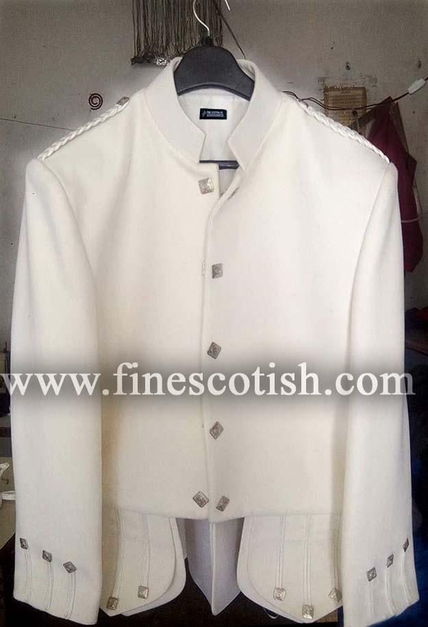 Doublet Jacket White Color with Thistle Buttons