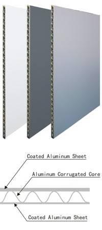 cheap good corrugated aluminum composite panel