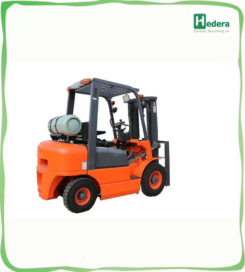Diesel forklift with side shifter, solid tyre and free lift mast