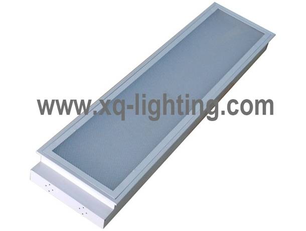 T8 2*40w grille lamp recessed type with prismatic cover