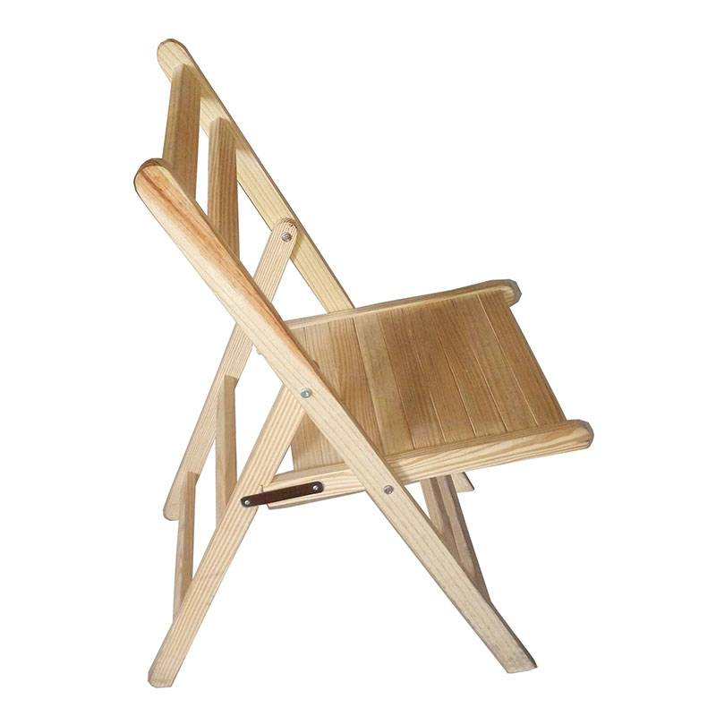 Wooden Folding Dining Chair - Solid Unfinished Pine