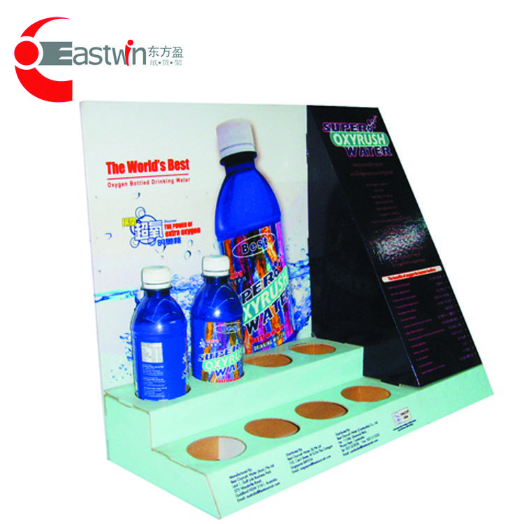 Advertising paper display stand /shelf for facial market