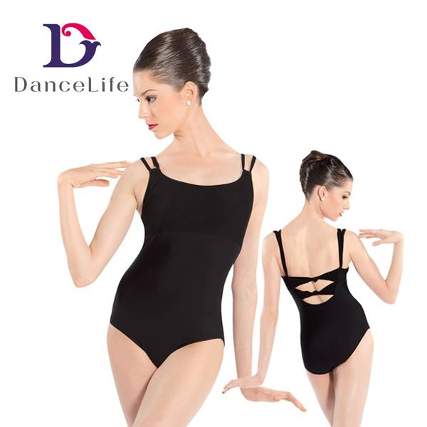 Twisted back ballet leotard, various styles and colors are available