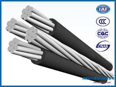 Overhead quadruplex service drop cable