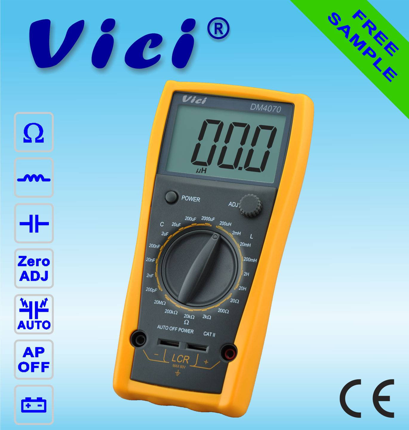 VICI DM4070  3 1/2 Digital LCR meter