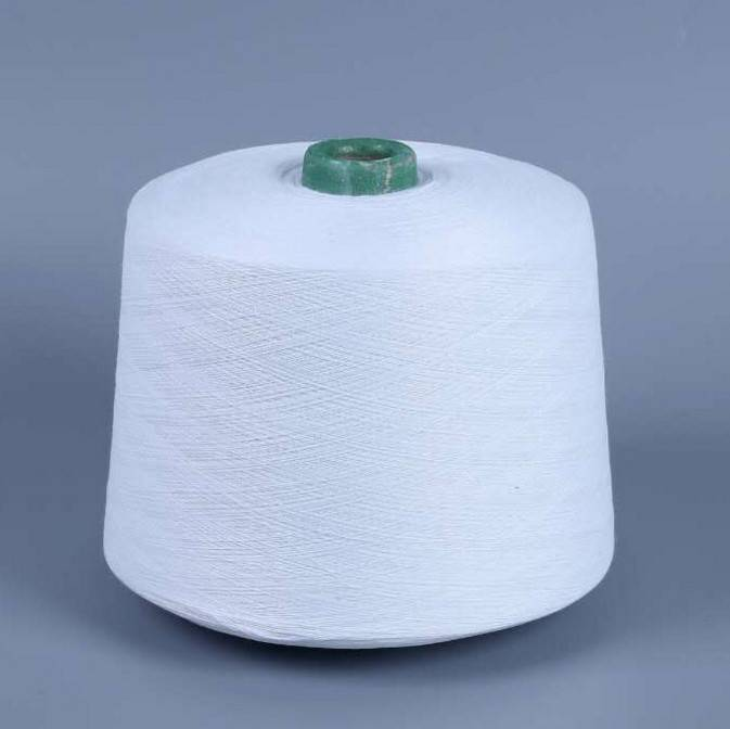 china raw white (adjustable) 40% polyester yarn 60% cotton yarn 60s for kintting
