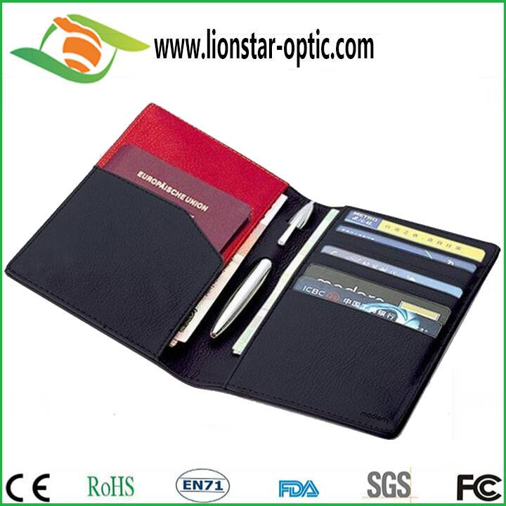 Passport holder , leather custom logo passport holder