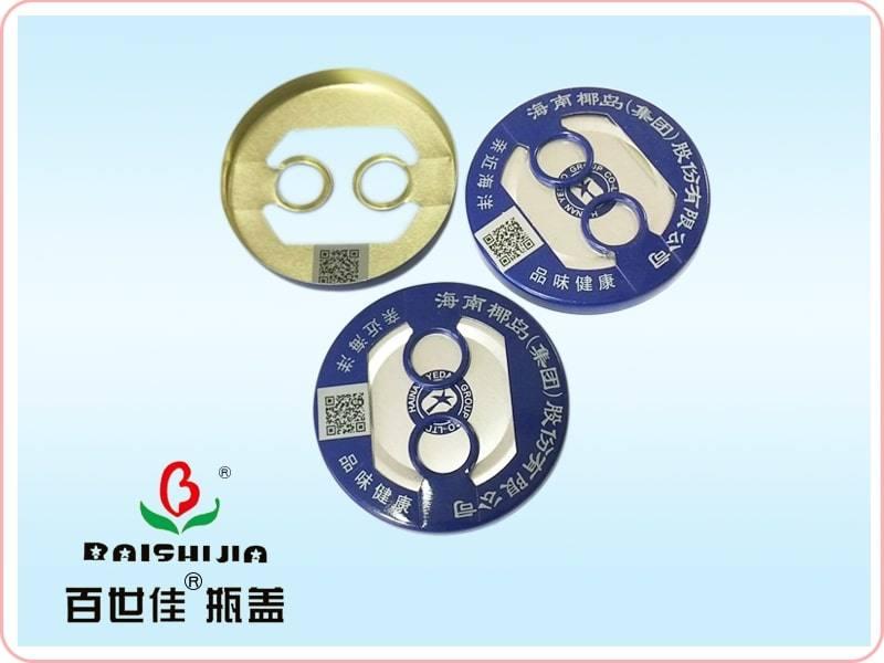 Pull Ring Aluminum Bottle Cap with Qr Code