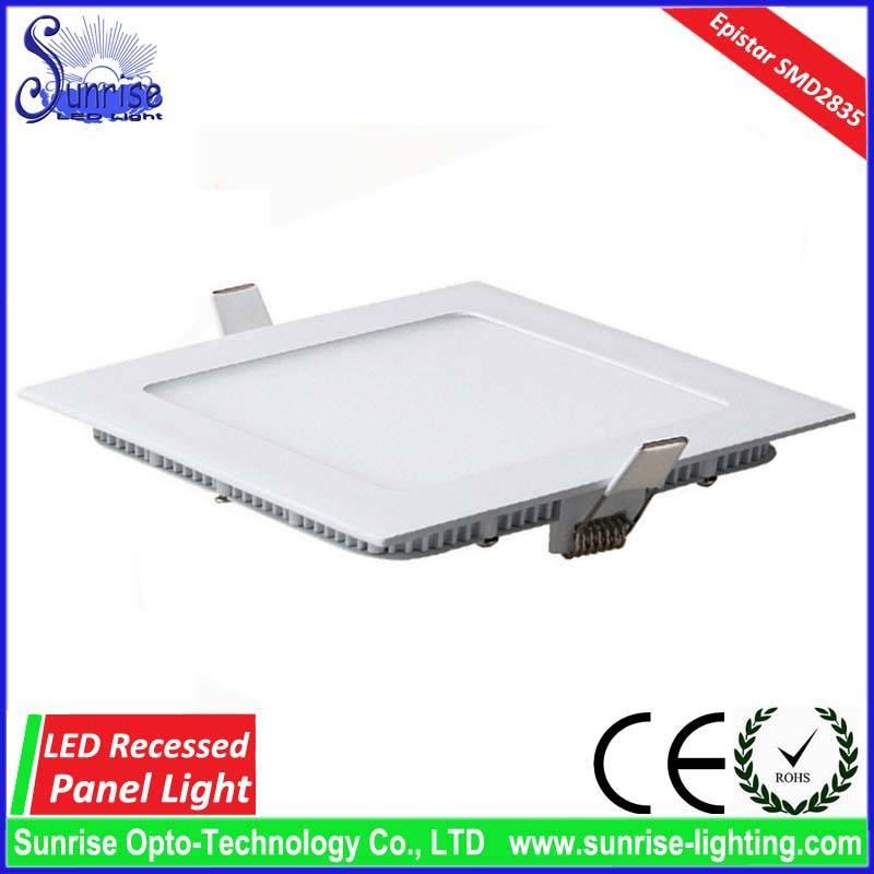 15W slim square recessed LED ceiling light