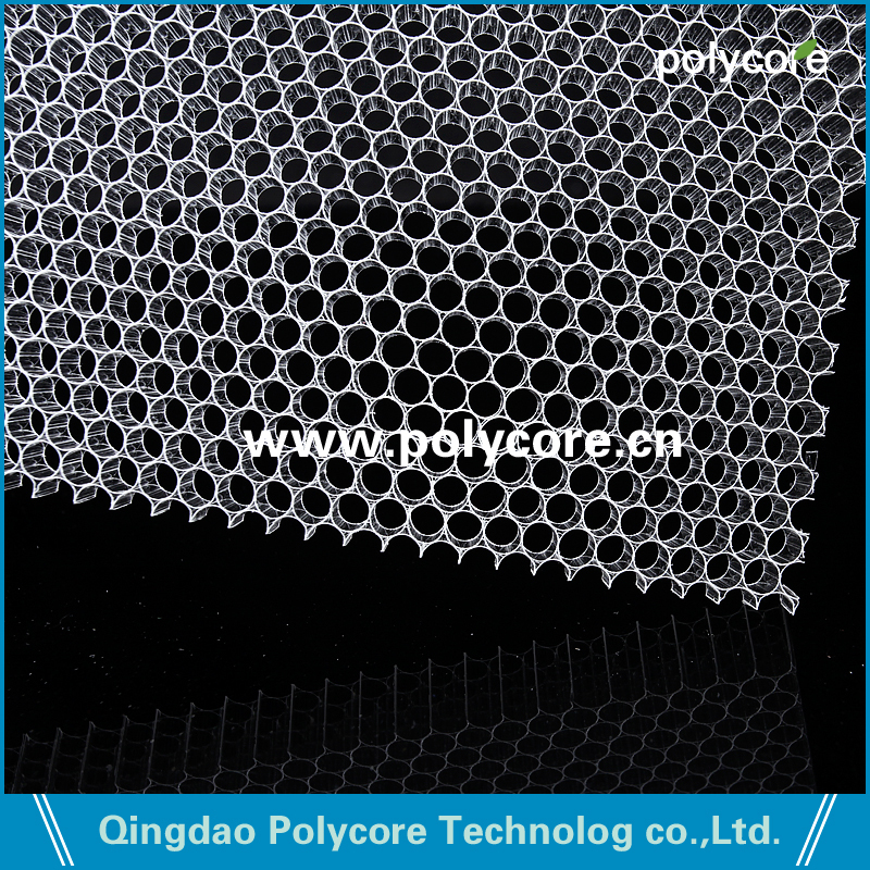 transparent Polycarbonate honeycomb
