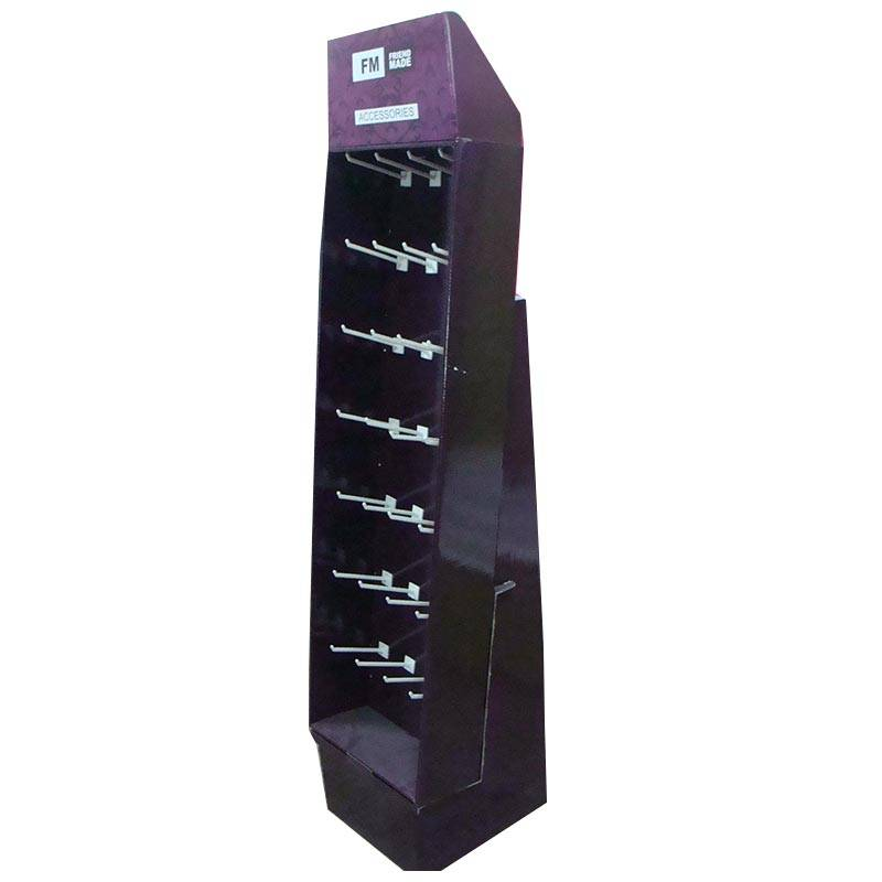 Professional Light Duty Display Stands for Mobile accessories, Display Racks with Hanging Hooks