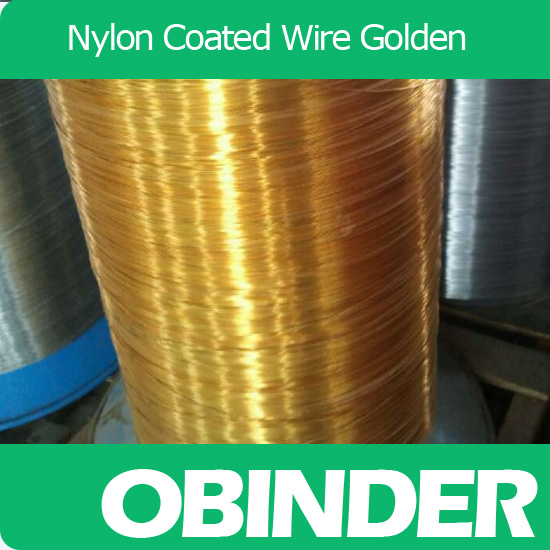 Obinder nylon coated book binding wire golden color