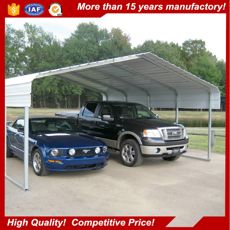High quality protect car steel square tube frame double car carport