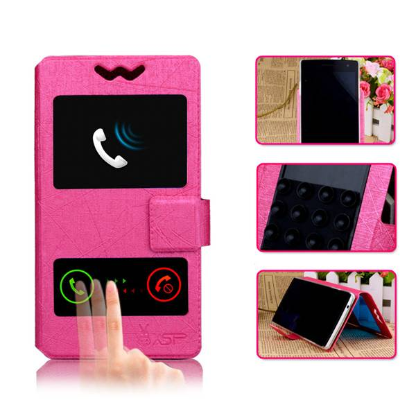 Two line Pu leather Mobile phone case