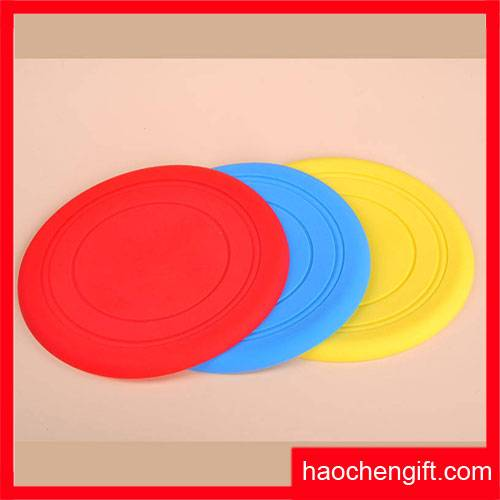 Pet Dog Soft Rubber Flexible Frisbee Disc Fetch Toy