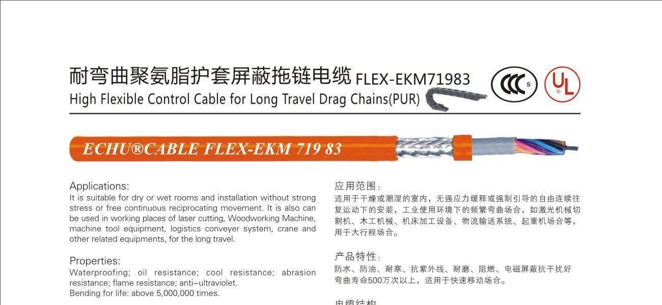 high flexible control cable (PUR) & crane cable