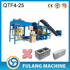 QTF4-25 automatic fly ash concrete brick making machines for sale