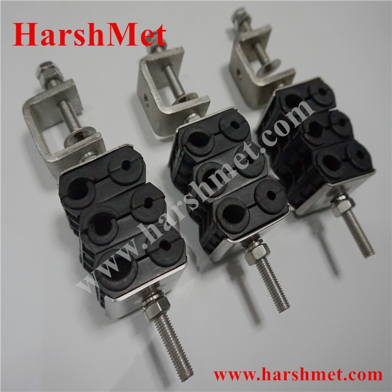 Three stacks Fiber Cable Clamps