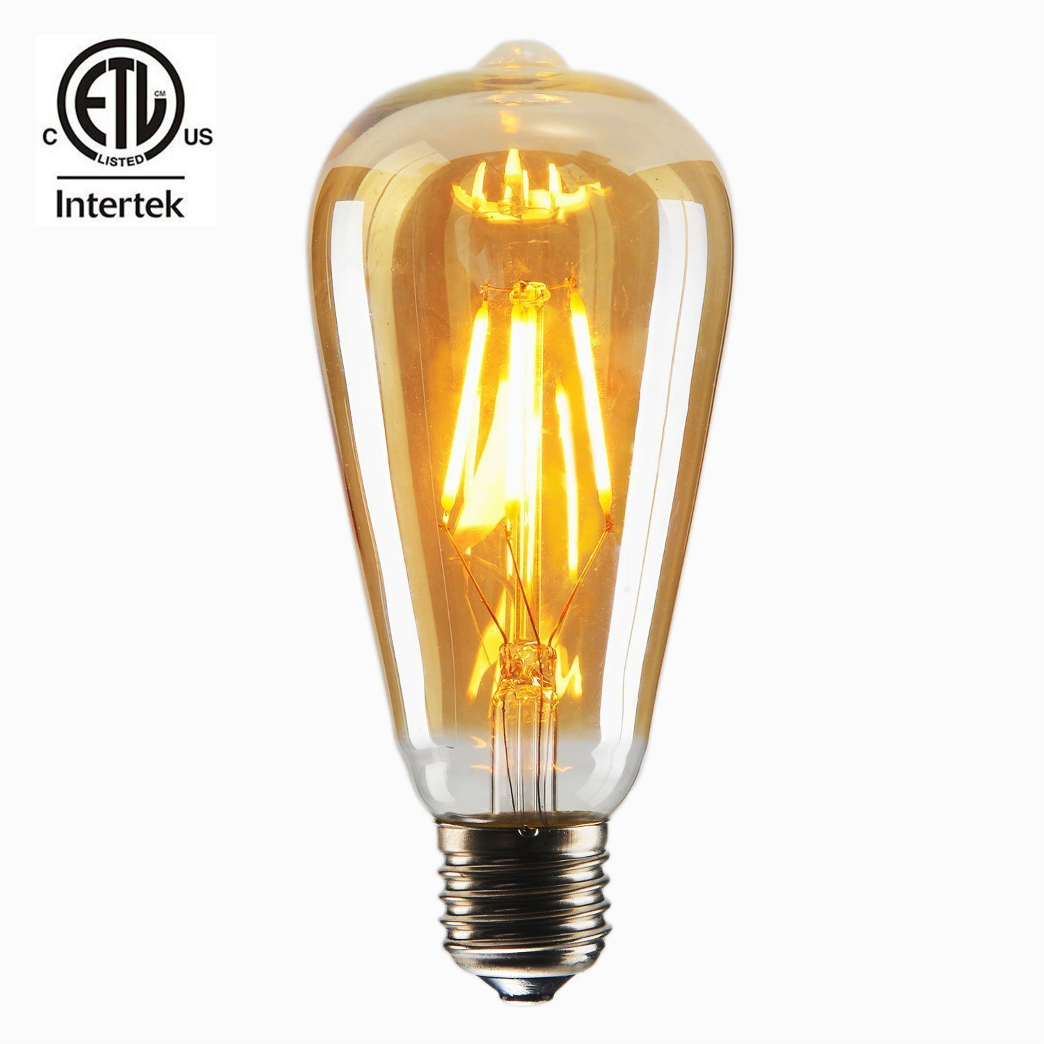White light &warm light finish ST64 4w e27 led filament bulb ce rohs,e27 led filament bulb 4W