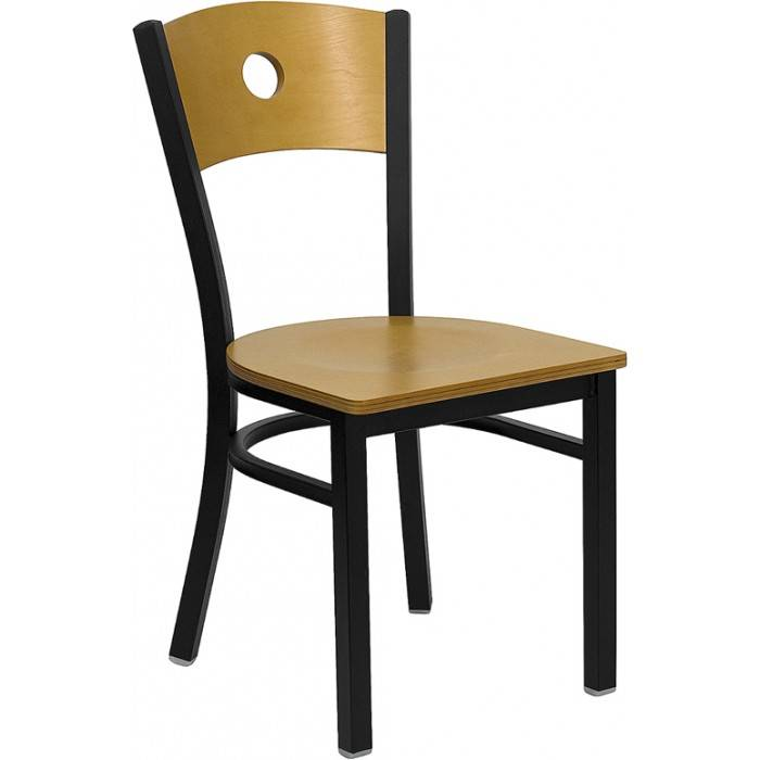 The circled back metal chair restaurant chair dinning room chair