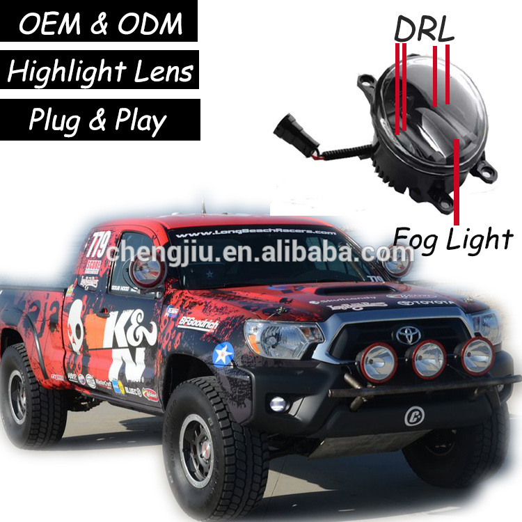 Best selling products 2017 in usa Toyota Tacoma accessories LED DRL toyota tacoma fog light 24V