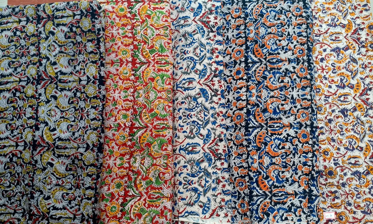 Kalamkari hand blocked fabric