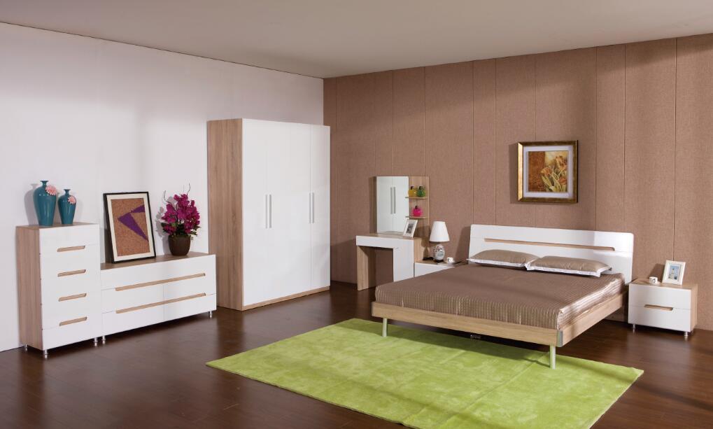 hot selling 3D oak melamine bedroom furniture for promotion