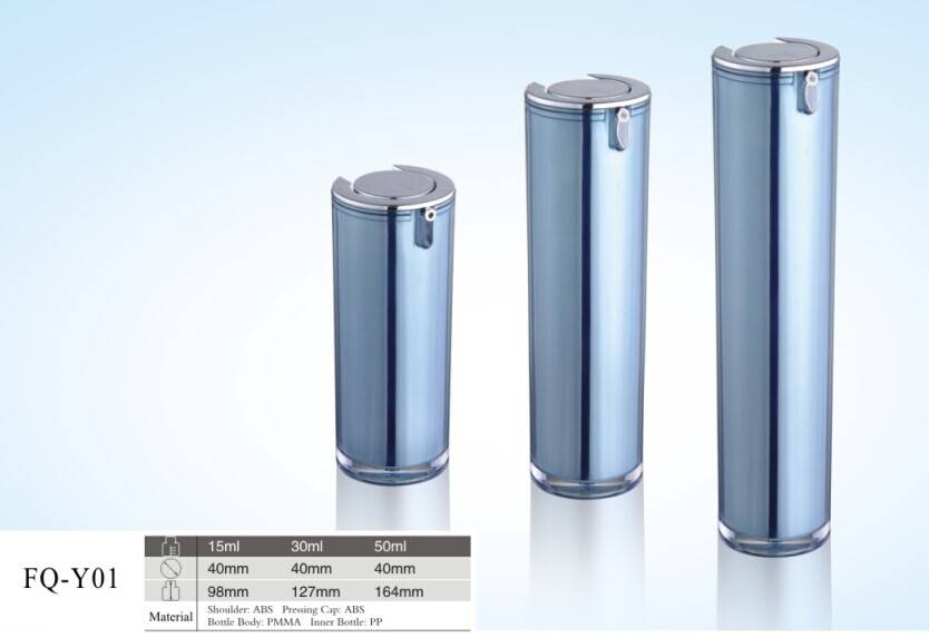 Plastic cylinder airless containers from China