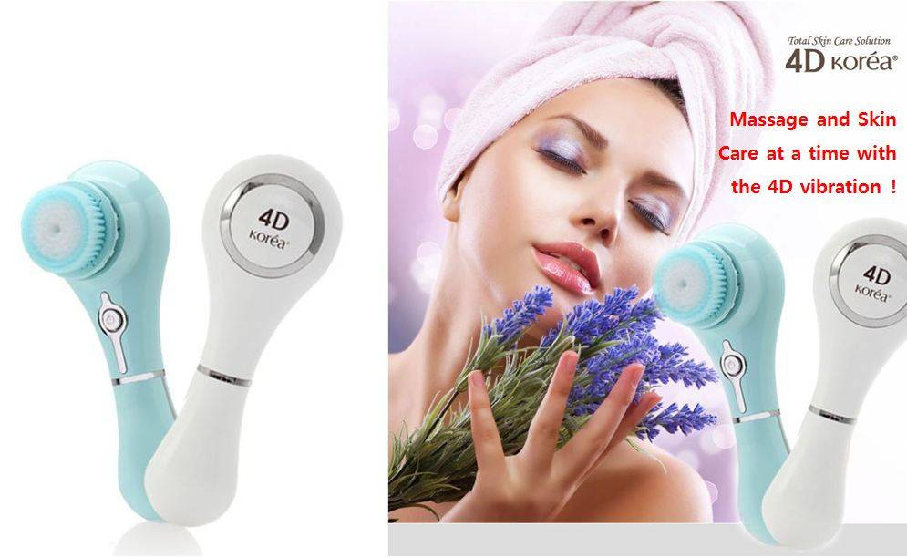 Electric Vibration Facial Cleansing Brush(4d Korea)