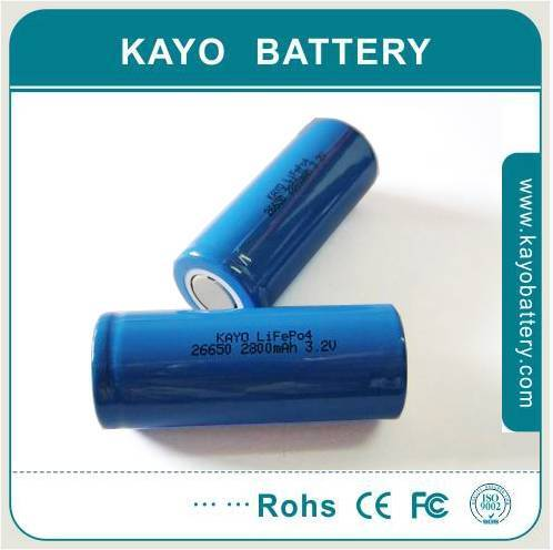 LiFePO4 Batteries with 3.2V Nominal Voltage and 12A Maximum Charge Current