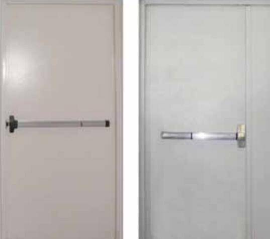 Fire resistant and insulated steel doorsets