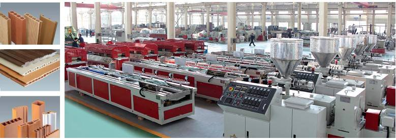 PE,PP,PVC and wood plate extrusion line
