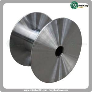 Flat-plate type steel reel for high speed machine Reel with solid flanges, turned all over