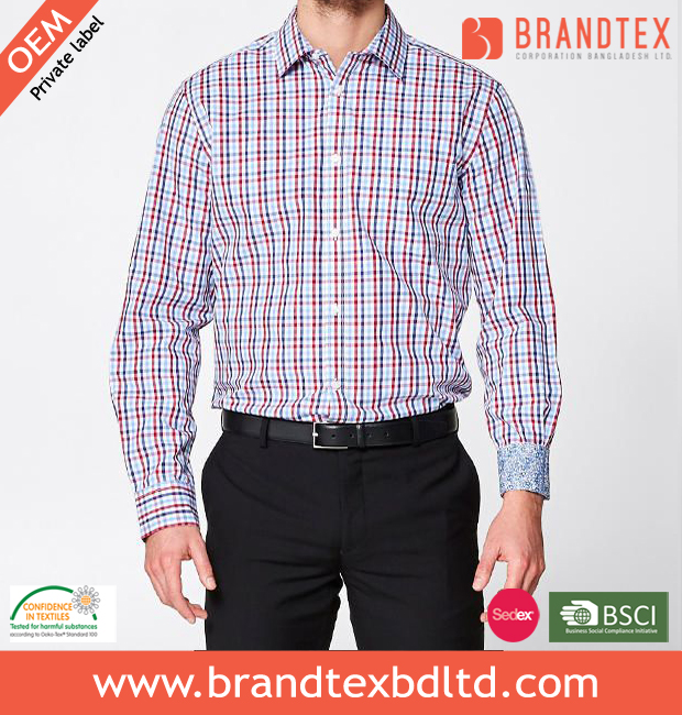 Grown Cotton Tailored Check Shirt