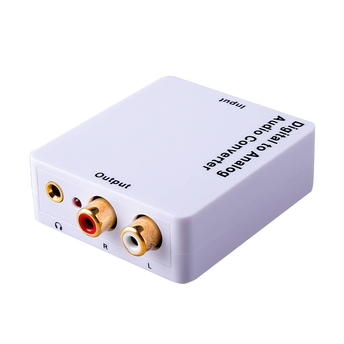 White digital to analog audio converter