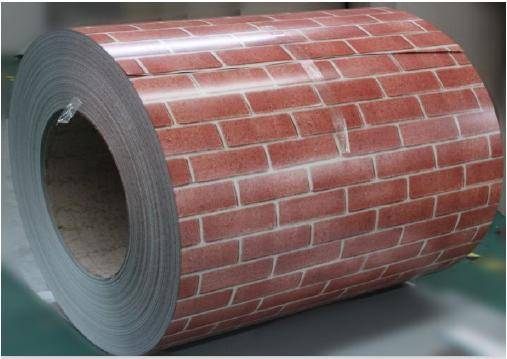 Brick grain pattern PPGI prepainted galvanized steel coil