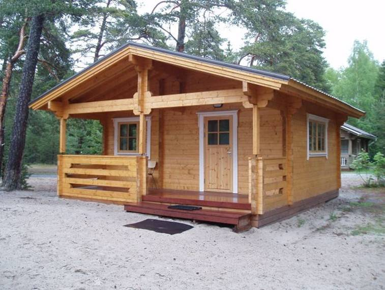 Happy Family Prefab solid wooden house cheap wooden villa