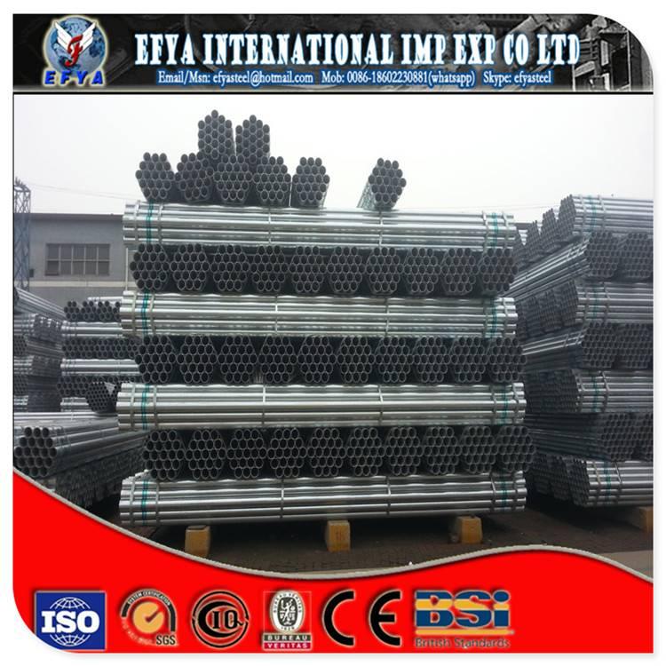ASTM A53 ERW Galvanized welded steel pipe(SCH40,SCH80)