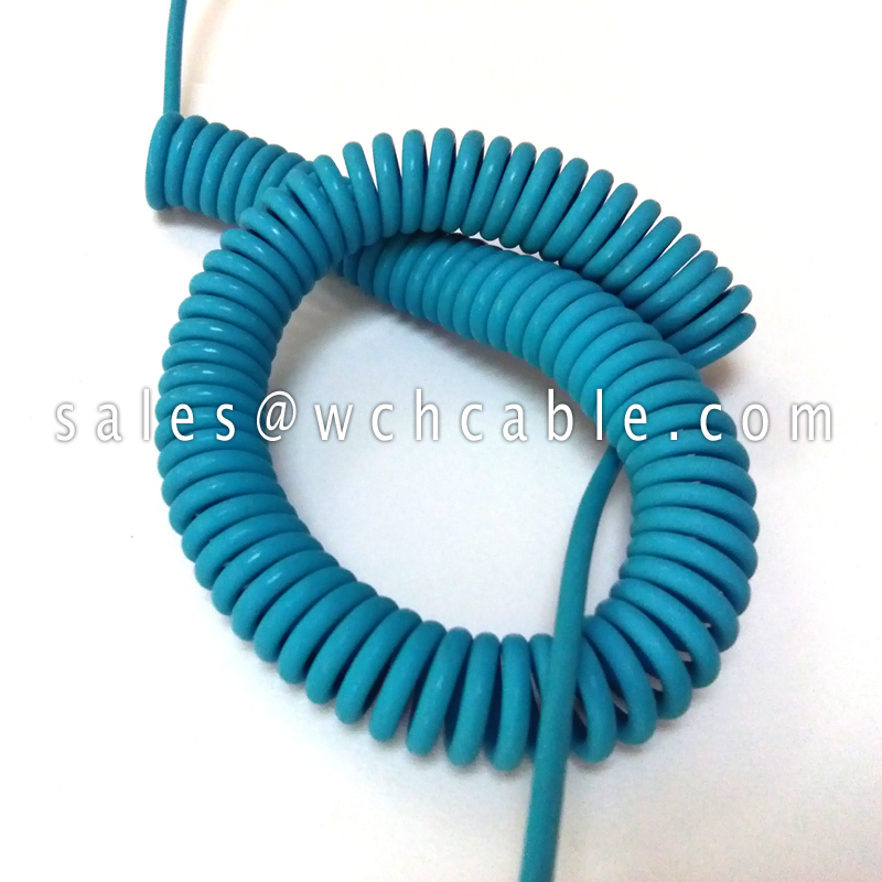 Waterproof Handset Retractile Extension Curly Cord UL20842, UL20843, UL20844