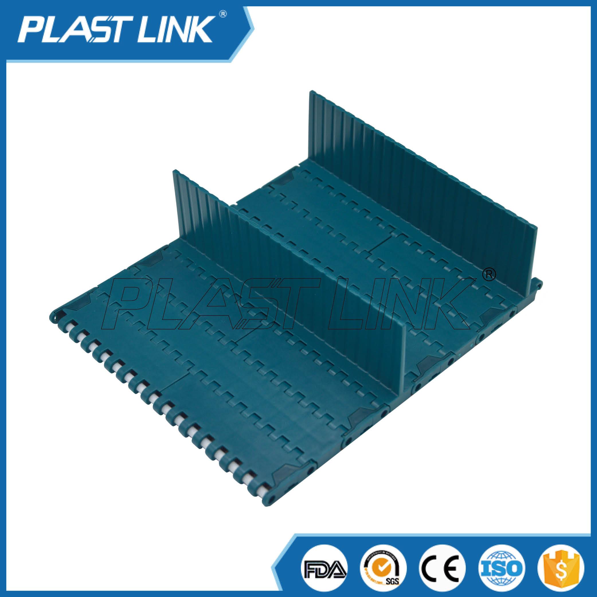 PlastLink 1000 slat top modular belt with base flight