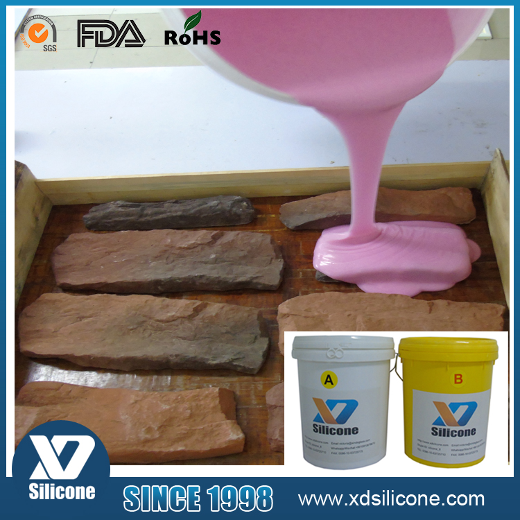 RTV-2 silicone rubber for artificial stone&brick mold making
