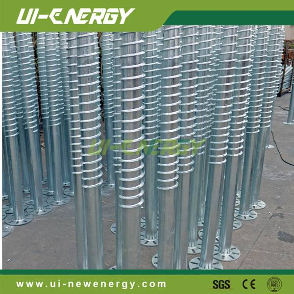 solar mounting system brackets ground screw for commercial application