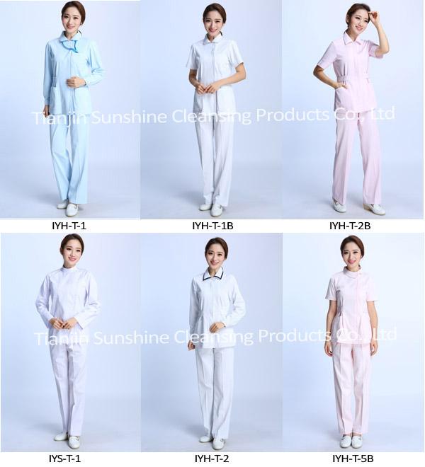 OEM Service Available Female Design Nurse White Uniform