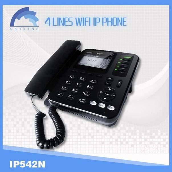 4 lines wifi sip ip phone