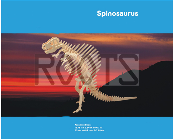 Spinosaurus-3D wooden puzzles, wooden construction kit,3d wooden models, 3d puzzle