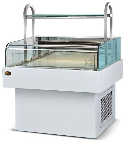 Horizontal sandwich cabinet;opentype refrigerated showcase/display