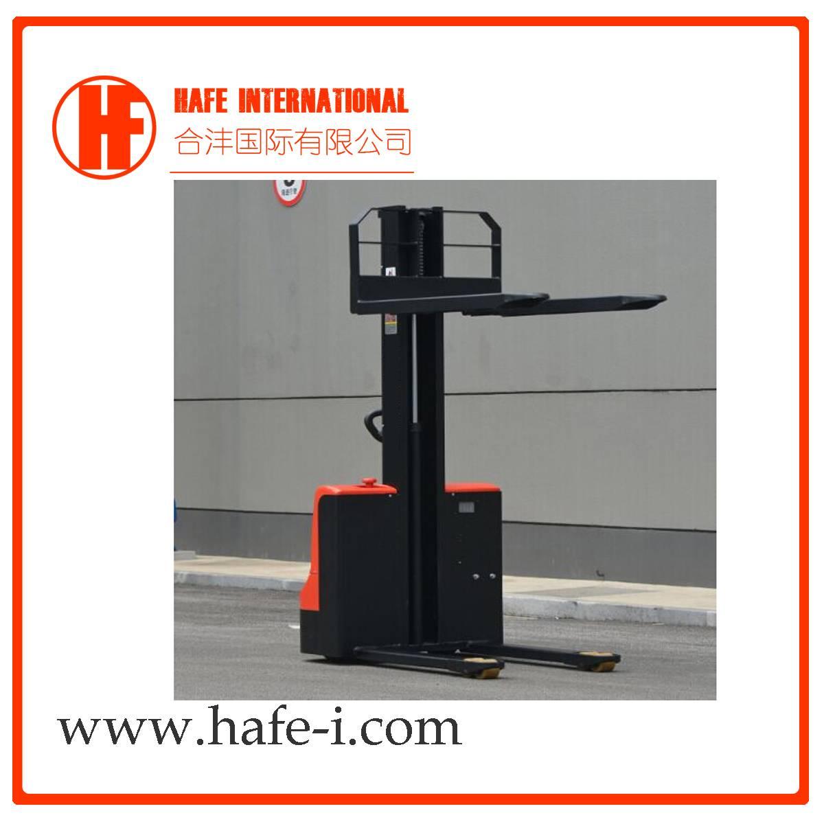 1ton 1.6m single mast simple mini electric lifter stacker