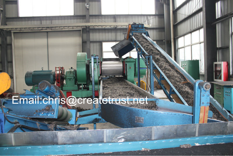 waste tire recyling machine/used tyre recycling plant