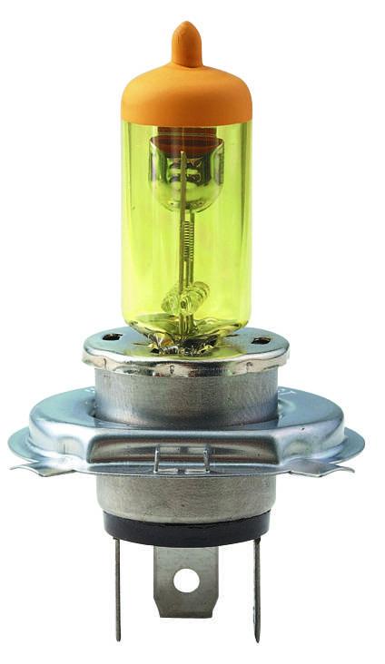 Auto Halogen Lamp H4 Pure Yellow (E-MARK)
