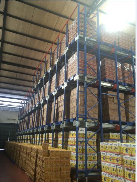 Heavy Duty FIFO shutter radio warehouse pallet rack